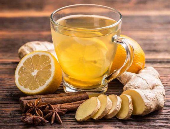 Чай с имбирем, лимоном, корицей и гвоздикой