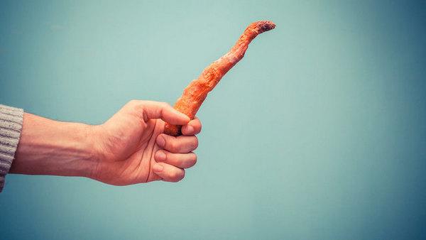 Завявшая морковь