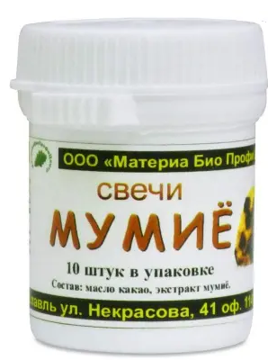 Свечи от «Материа Био Профи Центр», РФ