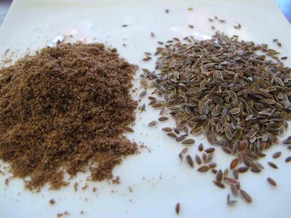 Порошок из семян укропа