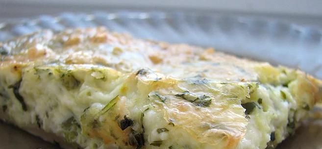 Пирог с рукколой и сыром