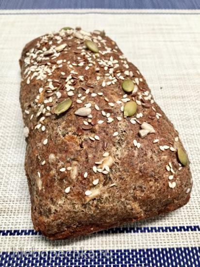 Хлеб без дрожжей с семенами